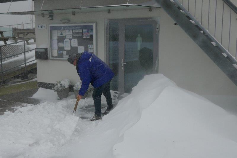Sneeuwstorm, februari 2021