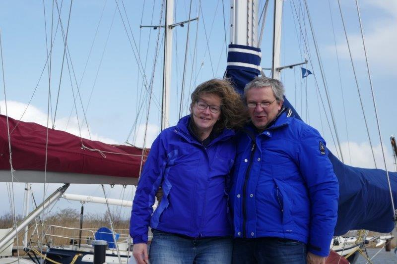 … aan boord  bij Peter en Jolanda Lootens, april 2021